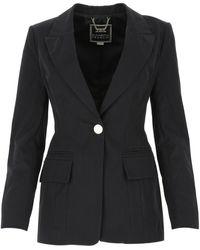 Elisabetta Franchi Single-buttoned Blazer - Black