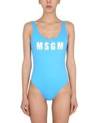 MSGM Swimsuit - Blue