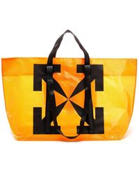 Off-White c/o Virgil Abloh Logo Printed Shopper Bag - Orange