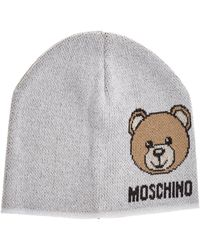 Moschino - Teddy Bear Intarsia Beanie - Lyst