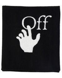 Off-White c/o Virgil Abloh Logo Intarsia Scarf - Black