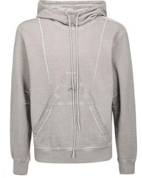 """Diesel Red Tag """"cold Wall"""" Cotton Sweatshirt With Hood - Grey"""