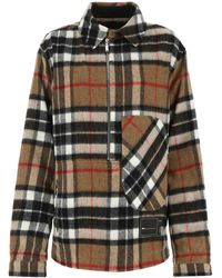 we11done Oversized Check Patterned Overshirt - Multicolor