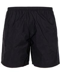 Prada Logo Patch Swim Shorts - Black
