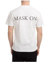 ih nom uh nit Men's Short Sleeve T-shirt Crew Neckline Jumper Mask - White