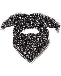 Karl Lagerfeld K/ikonik Logo Motif Scarf - Black