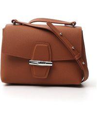 Longchamp Roseau Crossbody Bag - Brown