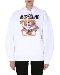 Moschino Teddy Frame Hoodie - White
