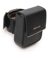 Prada Logo Pouch Bracelet - Black