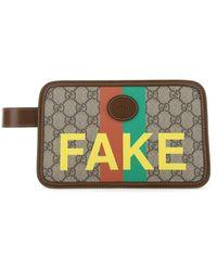 Gucci Fake/not Print Cosmetic Case - Multicolour