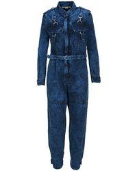 Stella McCartney Bleached Effect Denim Jumpsuit - Blue