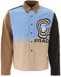 Prada Vertigo Colour-block Shirt - Blue