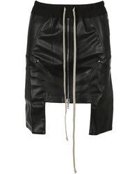 Rick Owens Drkshdw Faux-leather Mini Skirt - Black