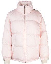 Prada Quilted Down Coat - Pink