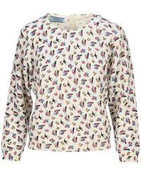 Prada Print Sweatshirt - White