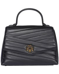 Tory Burch Kira Chevron Top-handle Satchel Bag - Black