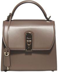 Ferragamo Boxyz Medium Top Handle Bag - Natural