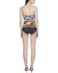 Dolce & Gabbana Patchwork One Piece Swimsuit - Multicolour