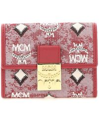 MCM Mini Trifold Wallet - Red