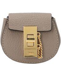 Chloé Drew Mini Wristlet Bag - Gray