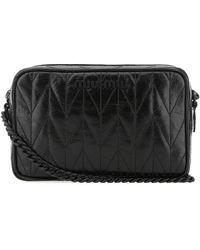 Miu Miu Quilted Camera Bag - Black