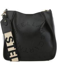 Stella McCartney Logo Shoulder Bag - Black