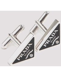 Prada 925 Sterling Silver Cufflinks - Metallic