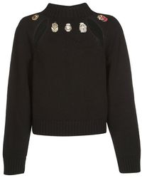 Alexander McQueen - Bugs Embellished Sweater - Lyst