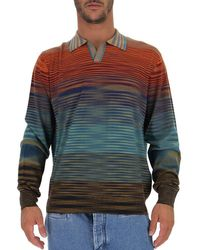 Missoni Collared Crew Neck Jumper - Grey