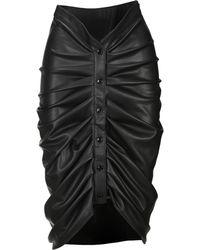 Philosophy Di Lorenzo Serafini Faux Leather Ruched Skirt - Black