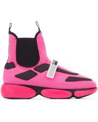 Prada Cloudbust High Top Sneakers - Pink