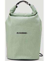 Jil Sander Logo Print Drawstring Backpack - Green
