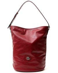 Gucci Logo Bucket Bag - Red