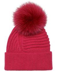 Woolrich Pompon Beanie - Red