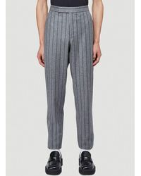Thom Browne Pinstriped Trousers - Grey