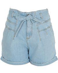 Pinko Tasha Belted Shorts - Blue