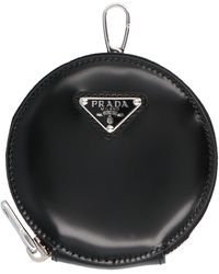 Prada Logo Round Mini Purse - Black