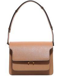 Marni Trunk Medium Shoulder Bag - Brown