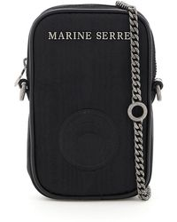 Marine Serre One Pocket Phone Case Mini Bag - Black