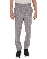 Alexander McQueen Tartan Slim-fit Pants - Gray