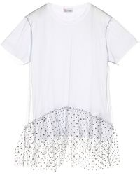 RED Valentino Glitter Tulle T-shirt - White