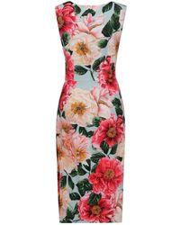 Dolce & Gabbana Floral Printed Midi Dress - Multicolour
