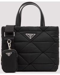 Prada Shopping Quilting Bag Unica - Black