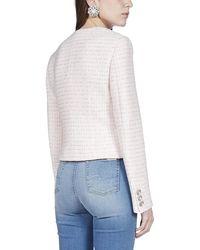 Alessandra Rich Sweetheart-neck Tweed Jacket - Pink