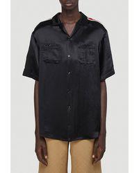 Gucci Oversize Bowling Shirt - Black