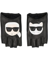 Karl Lagerfeld K/ikonik Gloves - Black