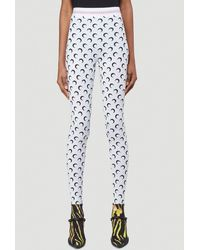 Marine Serre Moon Printed Leggings - White