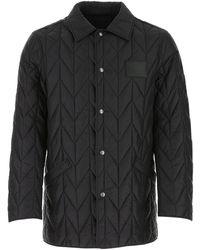 Ferragamo Quilted Logo Patch Jacket - Black