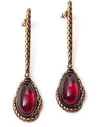 Alexander McQueen Drop Earrings - Red