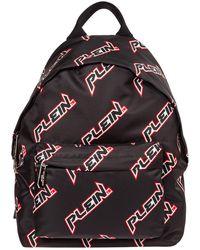Philipp Plein Nylon Rucksack Backpack Travel Space Plein - Black